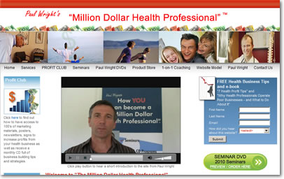 Million Dollar Health Professional Website
