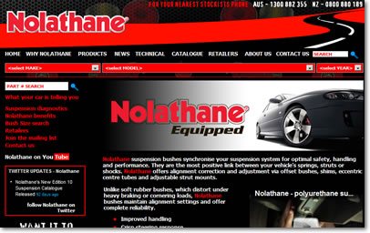 Nolathane Suspension Website